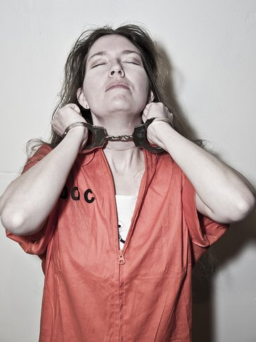 Photo by Mike Estes of me impersonating Aileen Wuornos