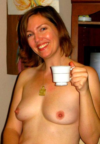 The hot tea made me a little warm, tee hee!