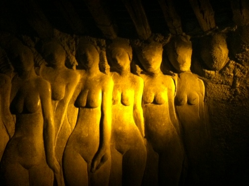 Goddesses in golden glow