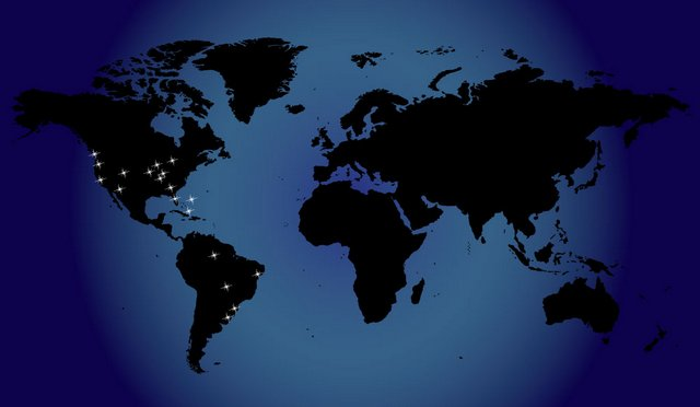 Where would your stars be located on the world map?