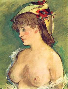 Blonde Woman, by Edouard Manet