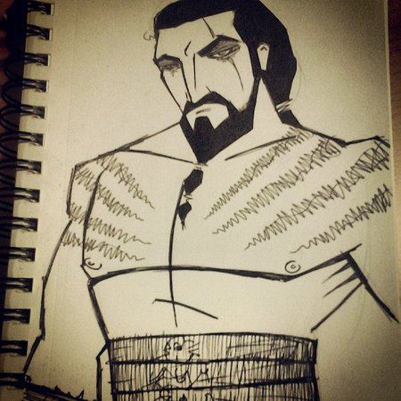 Khal Drogo sketch by Shawn Gaston