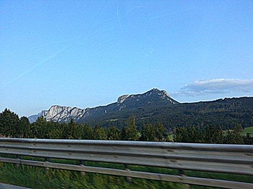 Autobahn scenery!