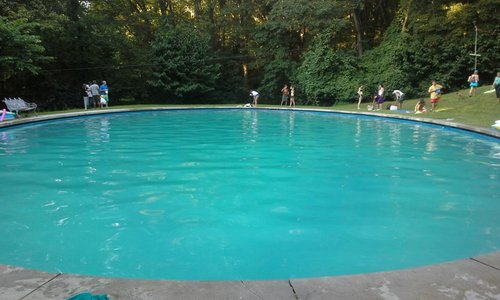 The pool at Eden!