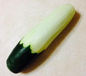 DIY cucumber dildo!