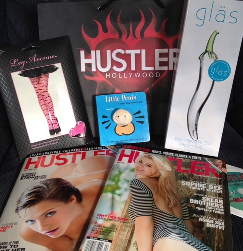 Shopping at Hustler!