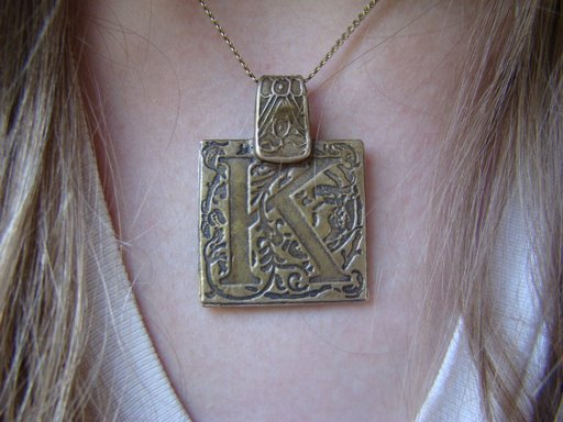 My signature piece K pendant