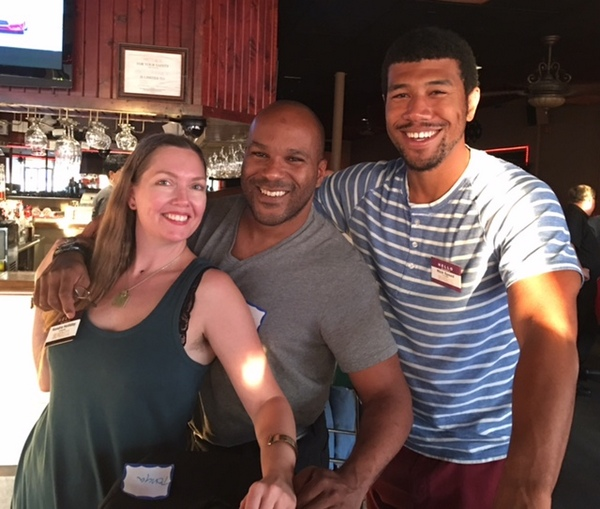 Kendra, David, Nick - 3 leaders of SEX+STL at our most recent happy hour